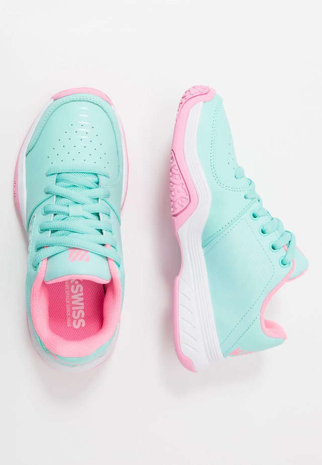 COURT EXPRESS OMNI - Zapatillas de tenis para todas las superficies - aruba blue/soft neon pink/white