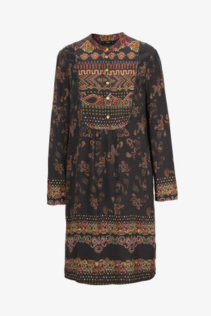 Day dress - brown red