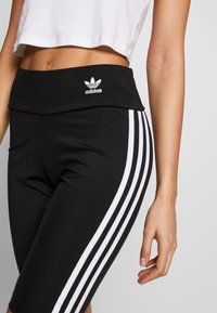 adidas Originals - ORIGINALS HIGH WAISTED TIGHTS - Shorts - black/white - 4