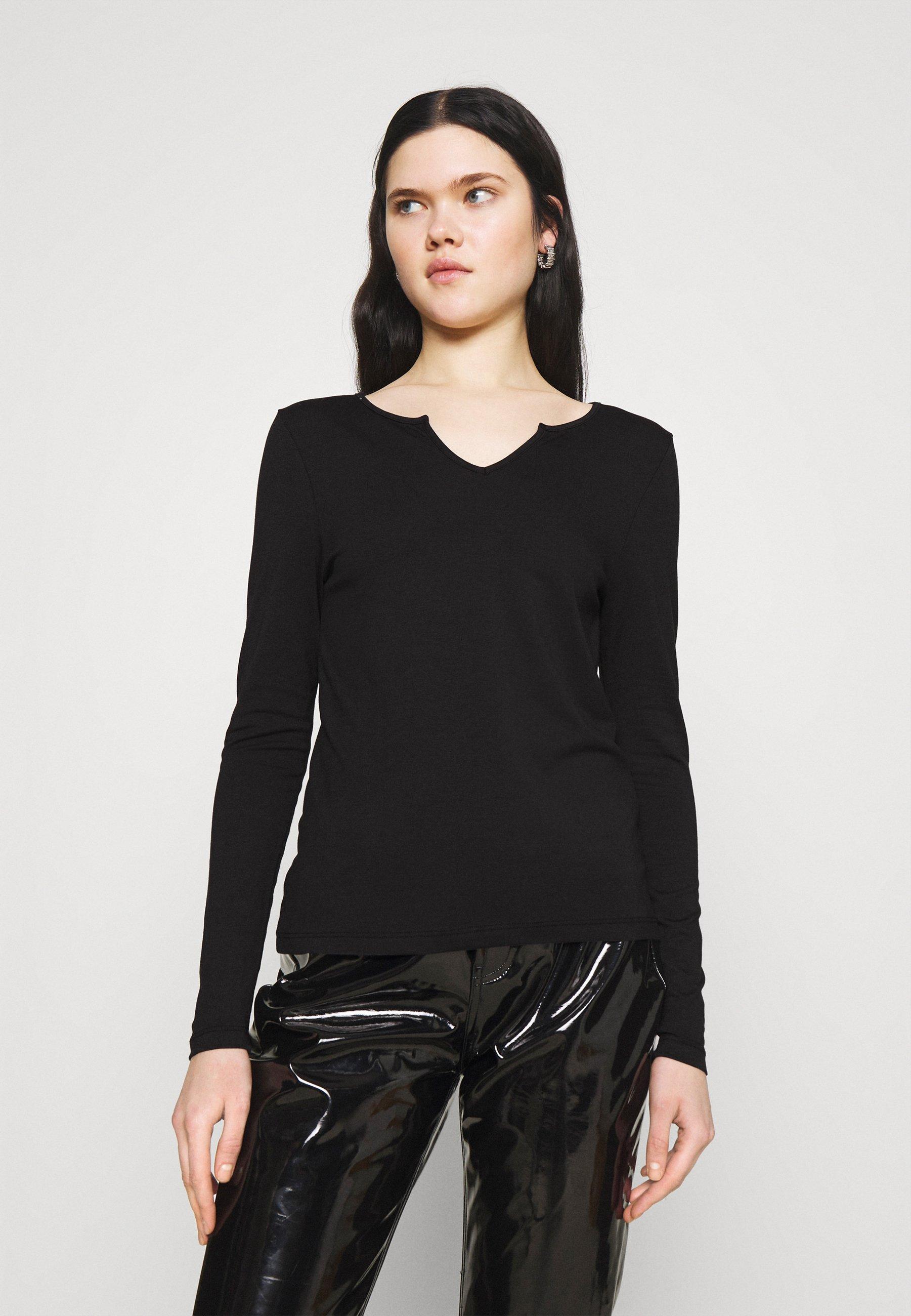 Femme VMPANDA V NECK  - T-shirt à manches longues