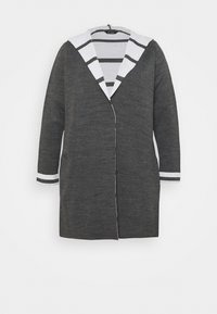 STRIPE HOODY COATIGAN - Cardigan - grey