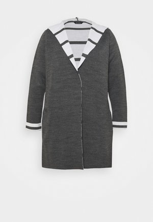 STRIPE HOODY COATIGAN - Strikjakke /Cardigans - grey