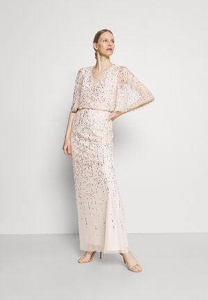 BEADED COVERED BLOUSON GOWN - Vestido de fiesta - flaxen