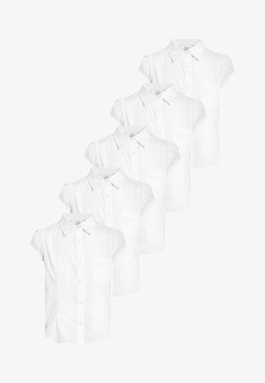 5 PACK - Button-down blouse - white