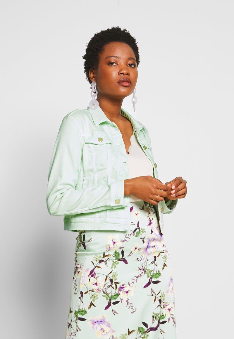 Rich & Royal - JACKET - Denim jacket - jade mint
