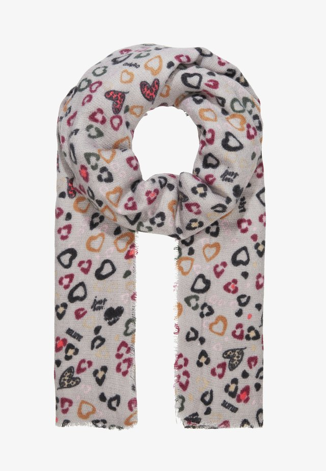 CHARITY LEO LOVE FLUFFY SCARF - Bufanda - grey