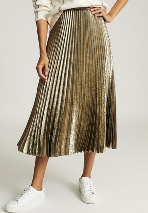 Pleated skirt - gold