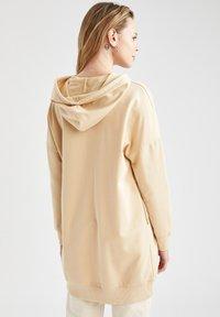 DeFacto - Zip-up hoodie - beige - 2