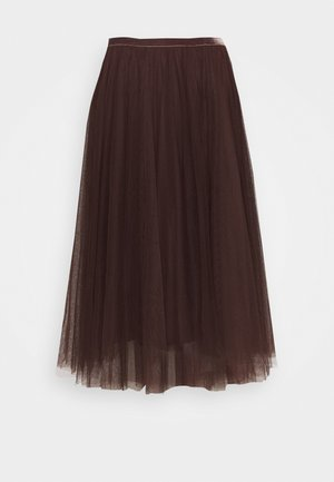 DIANA SKIRT - A-Linien-Rock - dark brown