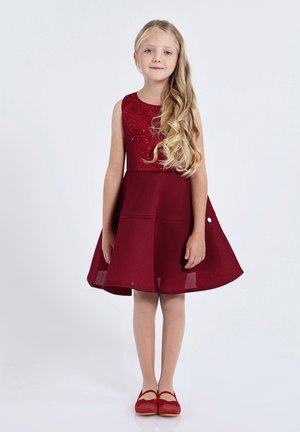 Vestito elegante - burgundy red