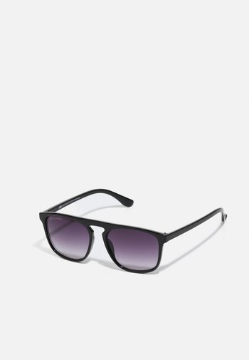 MYKONOS WITH CHAIN UNISEX - Sunglasses - black/silver-coloured