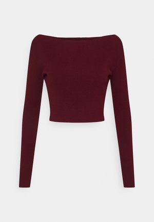CROP JUMPER - Jumper - burgundy