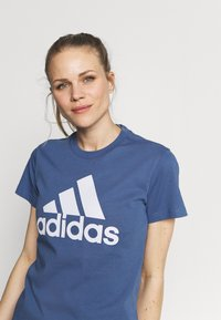 adidas Performance - T-shirt print - blue - 3