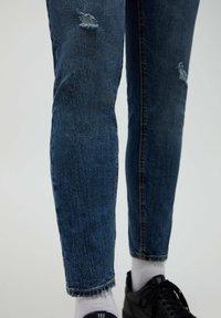 PULL&BEAR - Slim fit jeans - mottled blue - 5