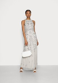 Maya Deluxe - HIGH NECK EMBELLISHED MAXI DRESS - Occasion wear - soft grey - 1