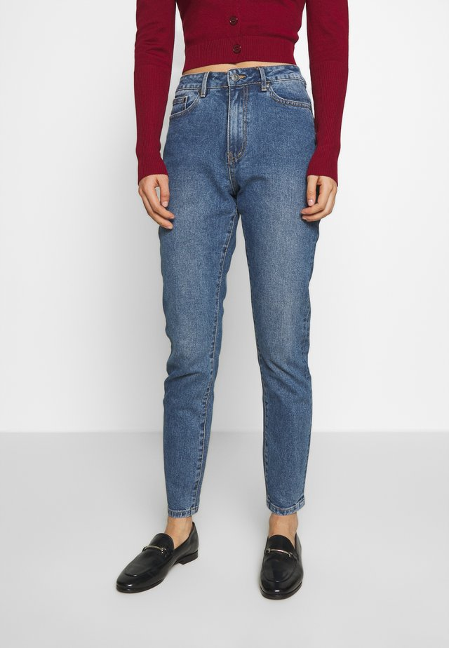 OBJHANNAH OXI - Slim fit jeans - medium blue denim