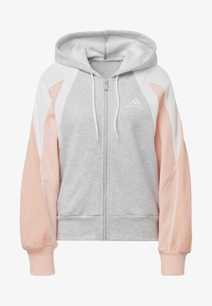 COLORBLOCK FULL-ZIP HOODIE - Sudadera con cremallera - grey