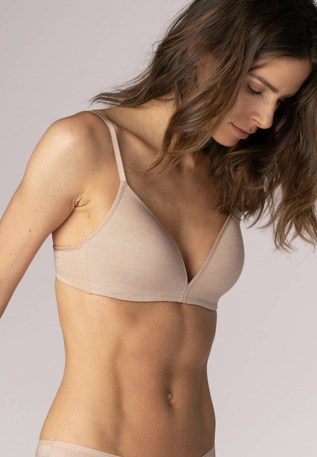 Triangle bra - cream tan melange