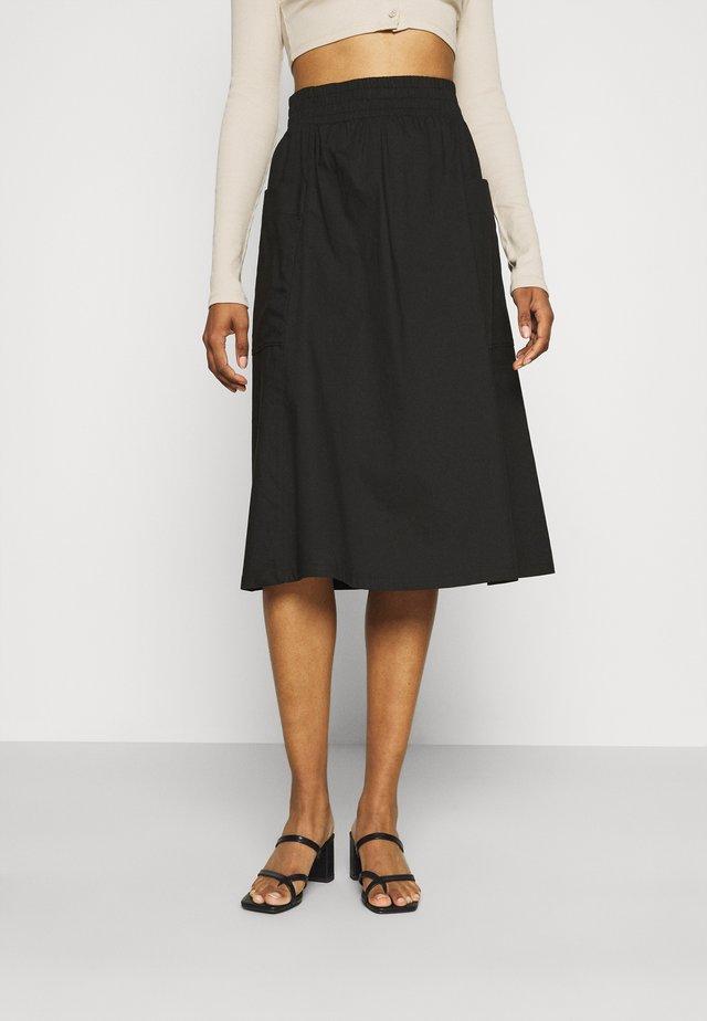 QIA SKIRT - A-line skirt - black dark