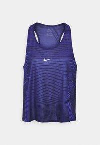 Nike Performance - TANK - Treningsskjorter - black/lapis/metallic silver - 4