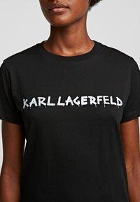 KARL LAGERFELD - Print T-shirt - black - 3