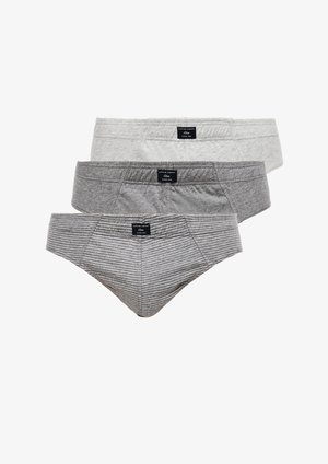 3 PACK  - Briefs - grey stripes/grey/light grey