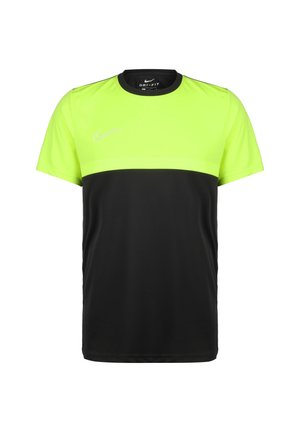 ACADEMY PRO  - Print T-shirt - anthracite / volt / white