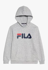 Fila - CLASSIC LOGO HOODY - Luvtröja - light grey melange - 0