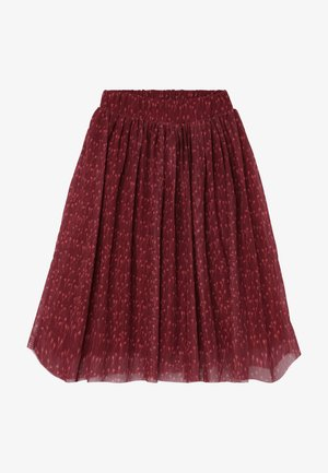 ELLA EXTRA LONG SKIRT - Áčková sukně - dark red
