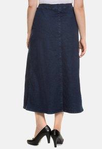 Ulla Popken - A-line skirt - darkblue - 1