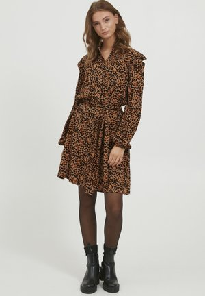 BYJOSA SHORT  - Shirt dress - tobacco brown mix