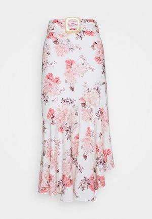 ASSYM SKIRT - A-line skirt - ivory