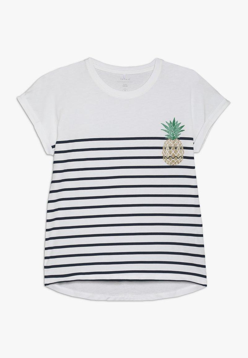 Name it - NKFJPINAPPLE - T-shirts print - bright white/dark sapphire