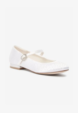 Ankle strap ballet pumps - off-white