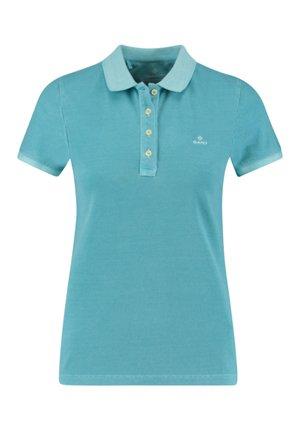 SUNFADED  RUGGER - Polo shirt - aqua