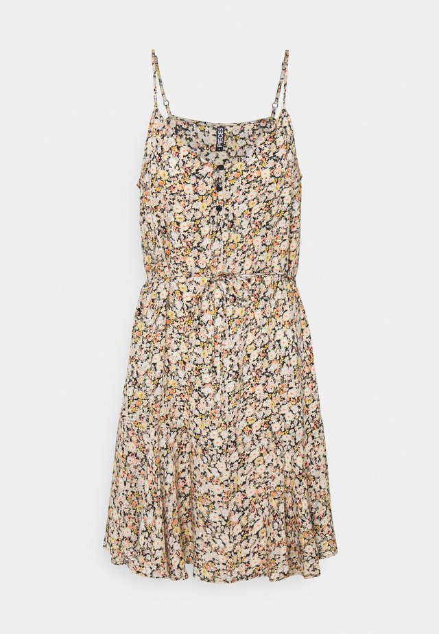 PCNYA SLIP BUTTON DRESS - Sukienka letnia - black