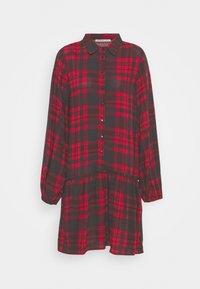 Anna Field - Oversized - Shirt dress - red/black - 0