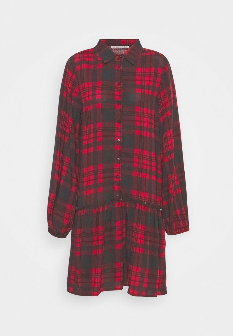Anna Field - Oversized - Shirt dress - red/black