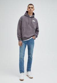 PULL&BEAR - Jeans straight leg - mottled light blue - 1