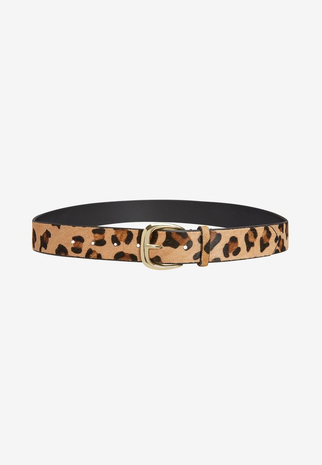 ANIMAL PRINT BUCKLE BELT - Belt - multi-coloured
