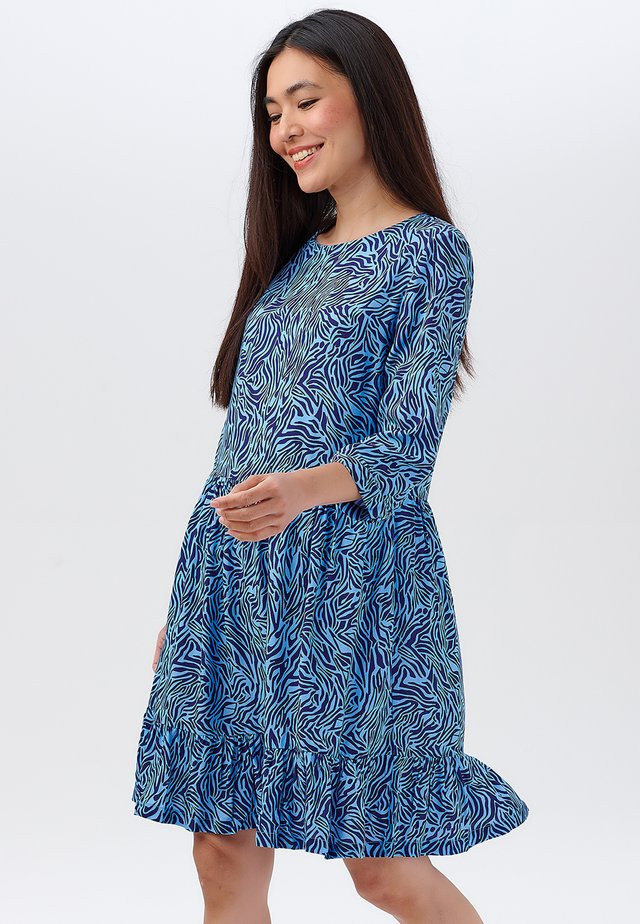 NORA POOLSIDE WAVES - Sukienka letnia - blue