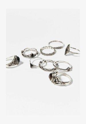 9ER SET  - Ring - silver-coloured