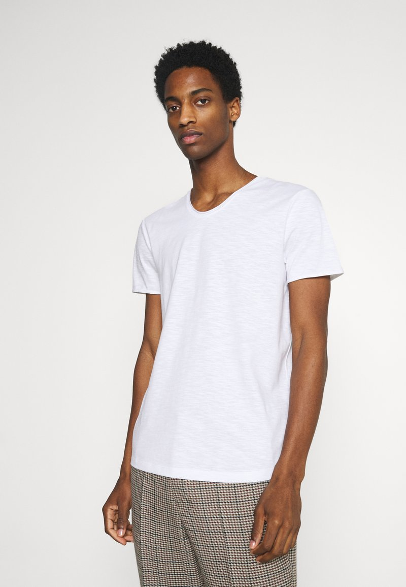 TOM TAILOR DENIM - TEE WITH BACKPRINT - Basic T-shirt - white