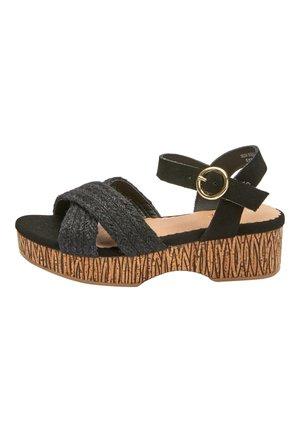 WEDGE - Sandals - black