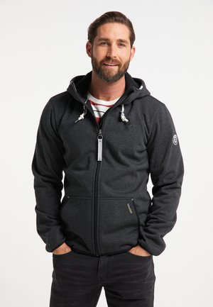 Outdoor jacket - dunkelgrau melange