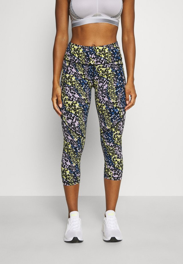 POWER CROP WORKOUT LEGGINGS - Collant - blue