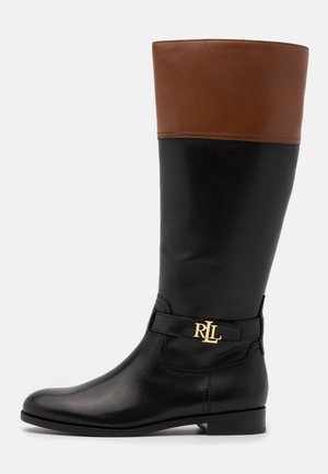 BAYLEE - Vysoká obuv - black/deep saddle