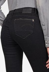 G-Star - MIDGE ZIP MID SKINNY - Jeans Skinny Fit - pitch black - 2