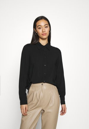 HILMA - Button-down blouse - black