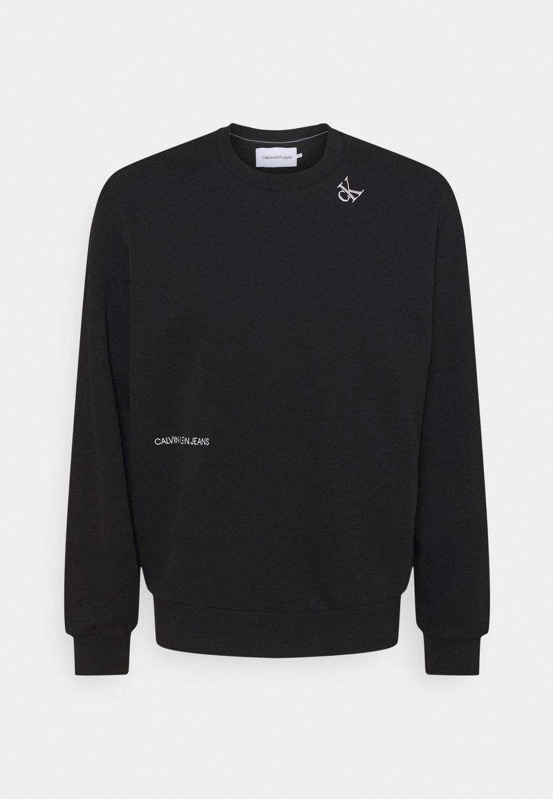 Calvin Klein Jeans - TAPE CREW NECK - Felpa - black